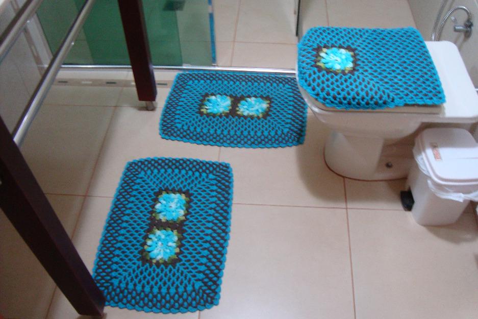 Tapete Floral Para Banheiro : tapete de cora o de croch passo a passo jogo de banheiro flor de