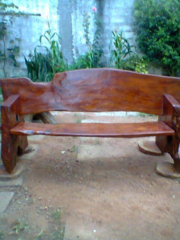 banco de jardim rustico : banco de jardim rustico:banco de jardim rustico em madeira macissa tipo decoracao banco de