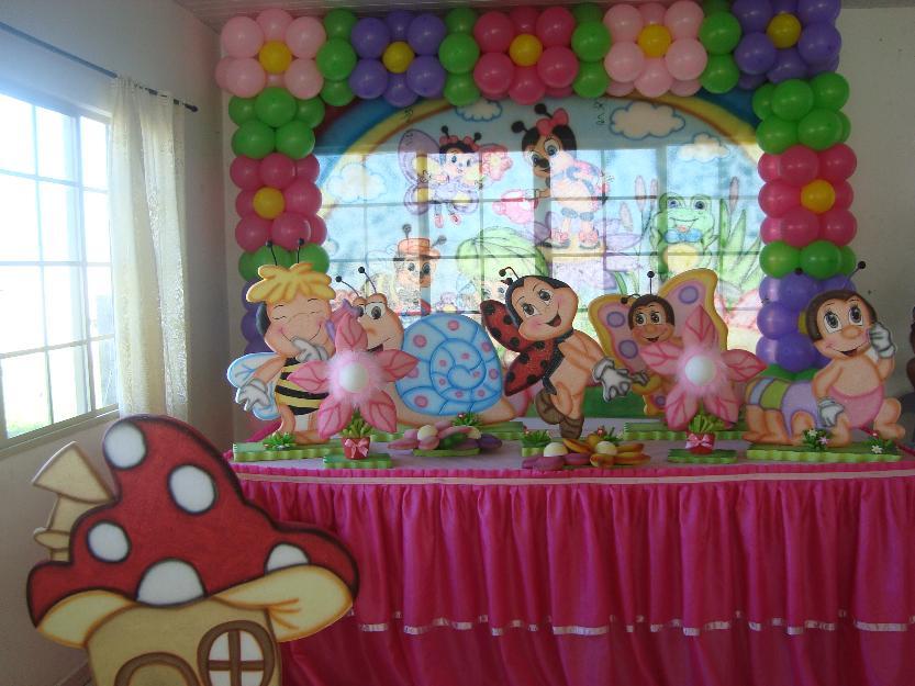 decoracao de festa infantil tema jardim encantado  Vazlon Brasil