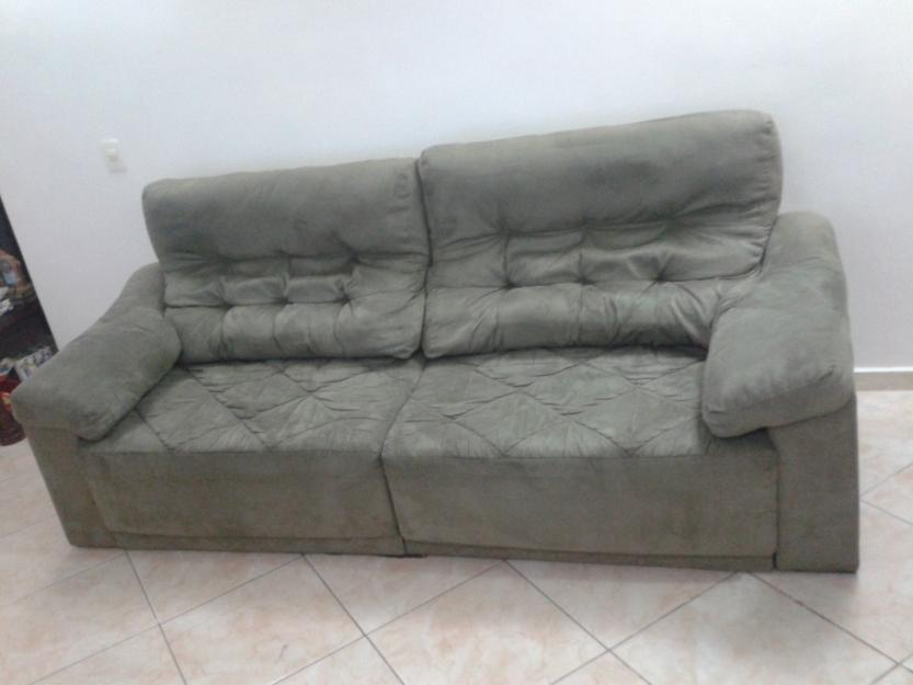 Sofa retratil 2 lugares muito confortavel r vazlon brasil for Sofa 4 lugares retratil