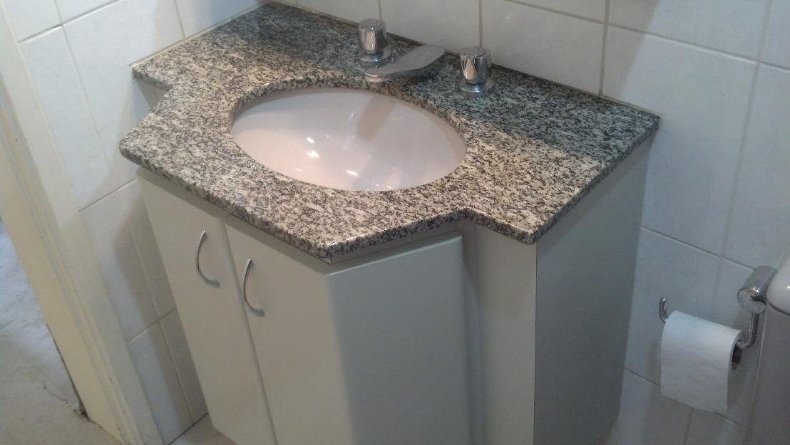 balcao granito cinza corumba pia de cozinha branca fibra  Vazlon Brasil -> Cuba Pia Banheiro Granito