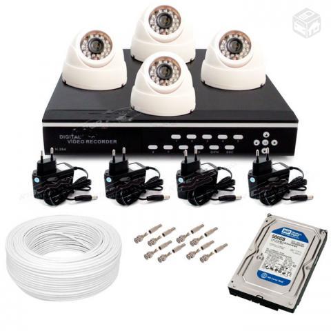 Kit cftv usado com cameras dvr stand alone gb ofertas for Kit da garage stand alone