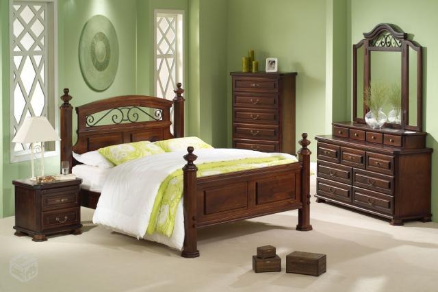 Otima cama king size em madeira macica trabalhada for Ofertas de camas king size
