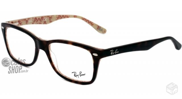 aff17ec61aeed oculos de grau ray ban rb7057 5563 tam 54   OFERTAS