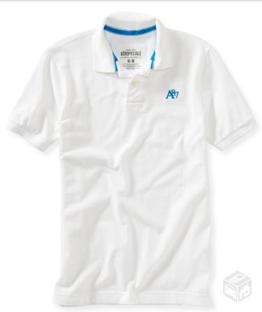camiseta polo aeropostale branca original nova   OFERTAS    6de2a63a2304e