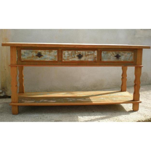 Aparador Maison Du Monde ~ aparador rustico em madeira de demolicao 4 gavetas
