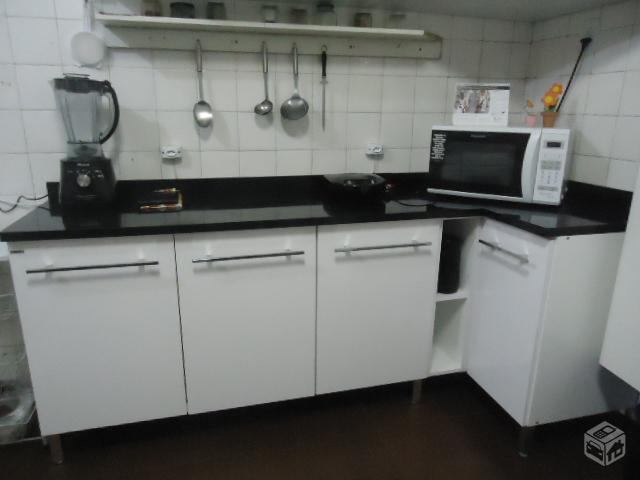 cozinha bartira balcao 3 portas e nicho  Vazlon Brasil # Armario De Cozinha Safira Bartira
