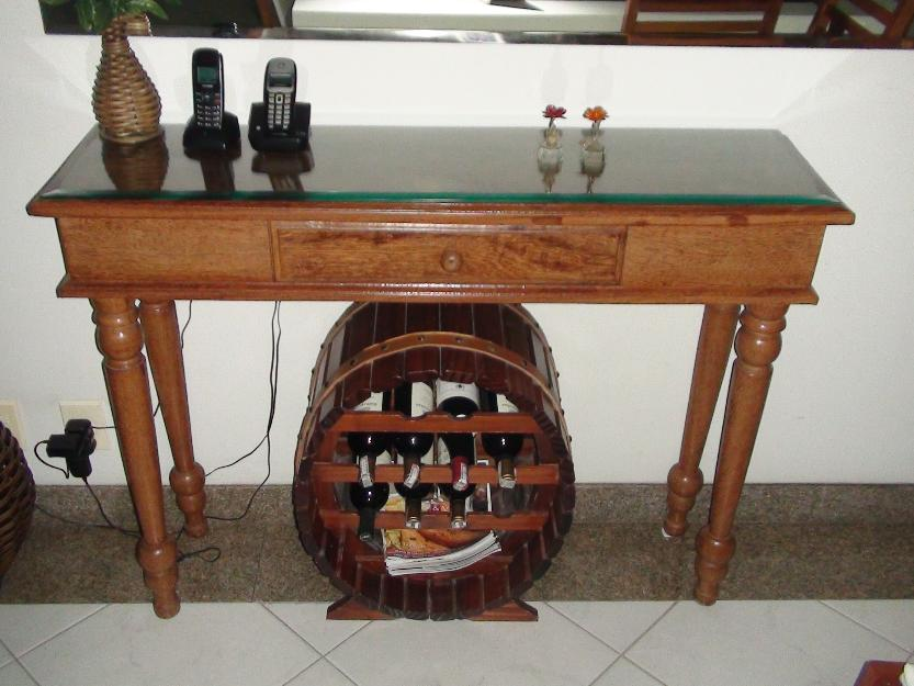 Armario De Cozinha De Madeira ~ aparador em madeira ctampo de vidro bisotado Vazlon Brasil
