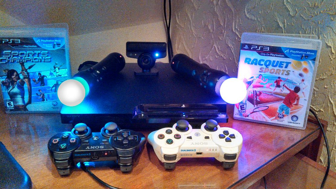 Play station 3 slim + kit move muito novo hd gb  jogos