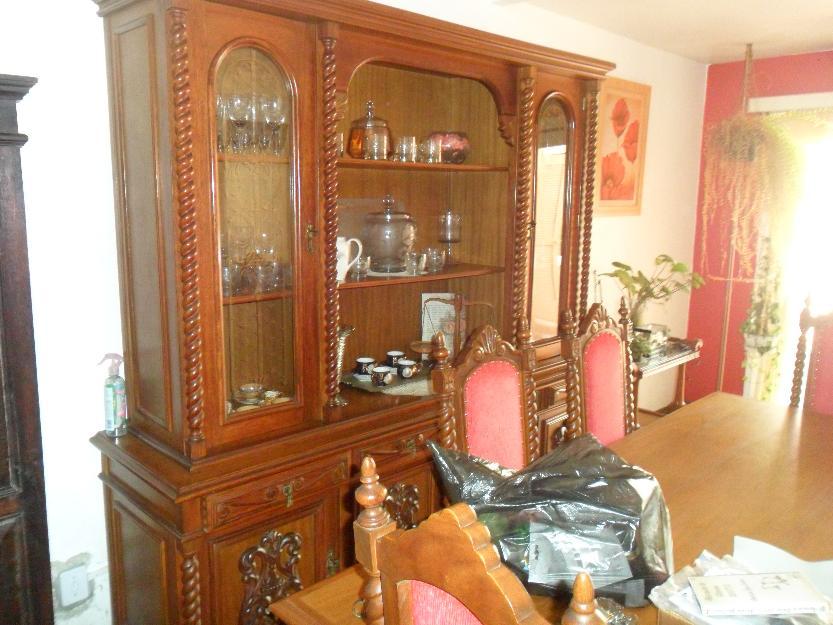 Sala De Jantar Usada Antiga ~ sala de jantar antiga mesa 8 cadeiras estante ótimo sala de jantar em