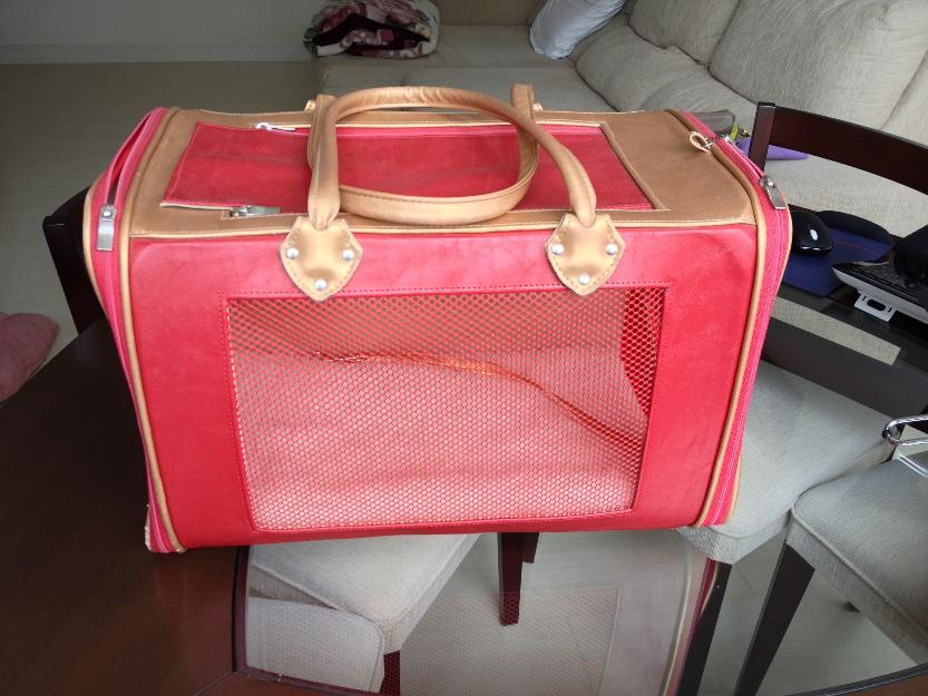 Bolsa De Transporte Caes Aviao : Bolsa transporte courino bicolor rosa vazlon brasil