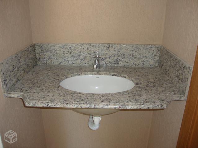 pia para lavabo ou banheiro co cuba acoplada na peca  Vazlon Brasil -> Saia Para Pia De Banheiro