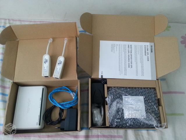 Modem-adsl2-roteador-wireless mas uma switch-tenda