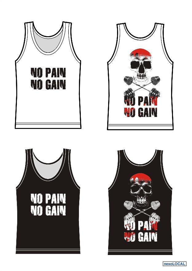 3a7d71604c camiseta de musculacao bodybuilding no pain no gain e   OFERTAS ...