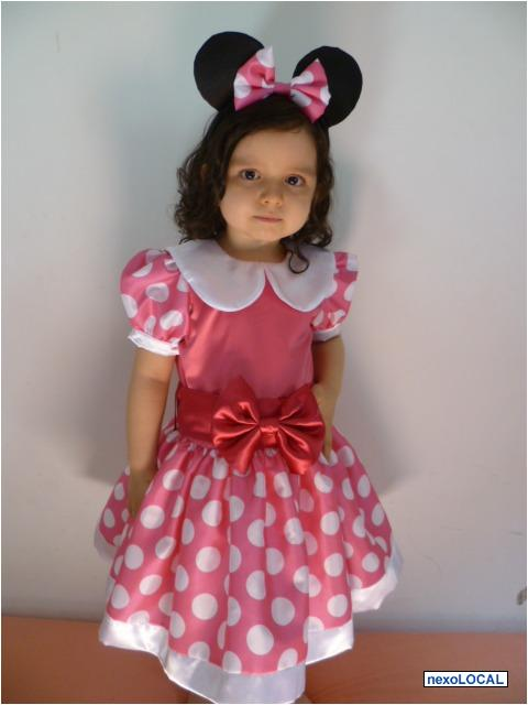 Vestido Rosa De Minnie Imagui