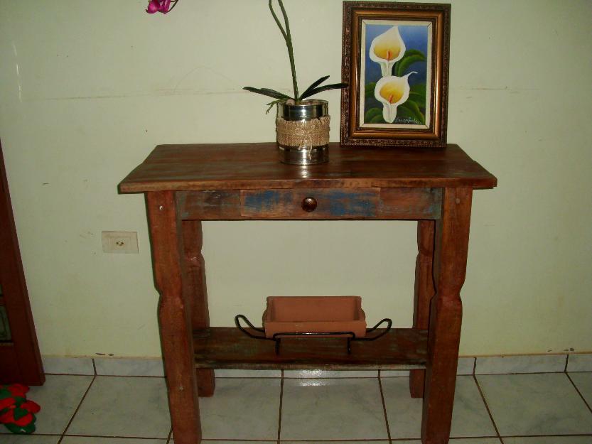 Armario Escobero Aki ~ aparador rustico em madeira de demolicao 4 gavetas Vazlon Brasil