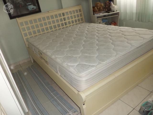 Exuberante cama king size em madeira macica ofertas for Ofertas de camas king size