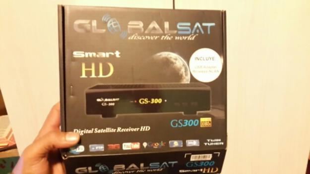 receptor Globalsat Gs smart hd c/adaptador wireless