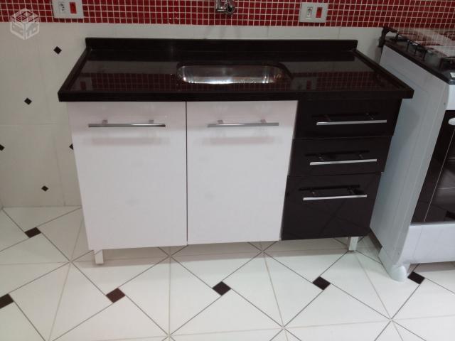 balcao de cozinha preto e branco bartira lindissimo 5  Vazlon Brasil # Armario De Cozinha Safira Bartira