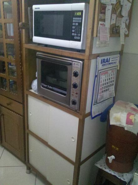 Aparador Ingles Antiguo ~ armario de cozinha brinde forno microondas Vazlon Brasil