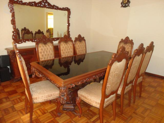Conjunto de jantar estilo colonial mesa buffet vazlon brasil for Mesas estilo colonial