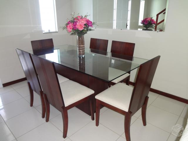 Sala De Jantar Rudnick ~ mesa sala de estarjantar 6 lugares  Vazlon Brasil