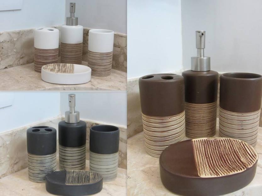 conjunto de pia para banheiro  Vazlon Brasil -> Kit Para Pia De Banheiro