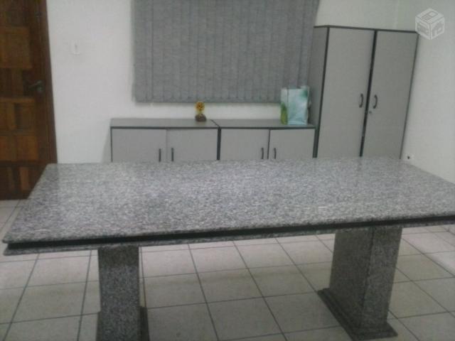 Mesa de reuniao em granito e 6 cadeiras giratorias - Mesa de granito ...