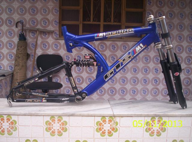 Quadro de bicicleta gts full suspension+garfo