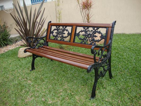 banco de jardim em pvc : banco de jardim em pvc:bancos para jardim pés em ferro fundido dê um charme no seu jardim