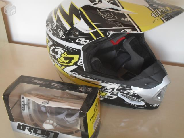 2847683dea714 capacete pro tork th 1 eletric oculos iron   OFERTAS     Vazlon Brasil
