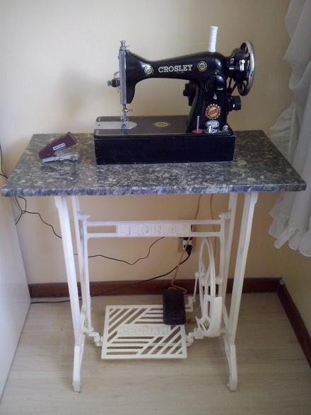 Pes e tampo de marmore maquina de costura singer vazlon - Mesas para costura ...