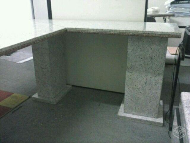 Escritorio mesas para computador com lindo tampo de - Mesa de granito ...