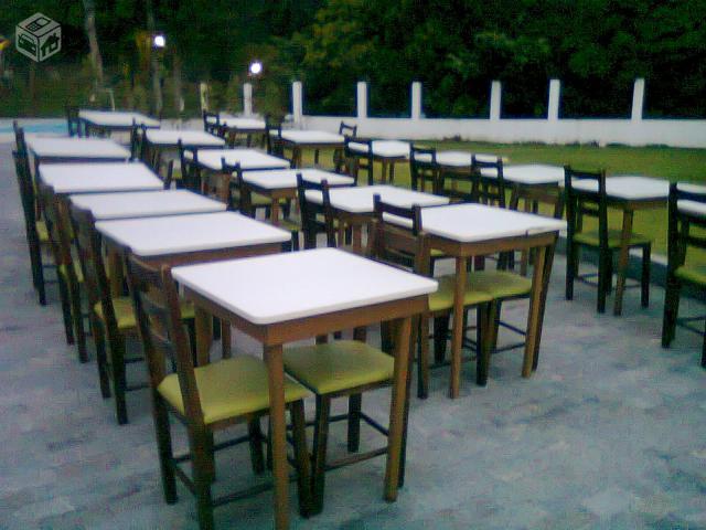 Mesas e cadeiras para restaurante e lanchonete todas for Mesas para restaurante usadas