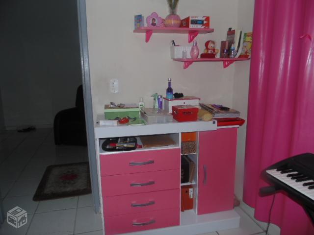 conjunto de quarto solteiro rosa e branco teen otimo  ~ Conjunto Quarto Infanto Juvenil