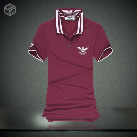 128eeaaf668ce camiseta manga curta emporio armani gola v com botoes   OFERTAS ...