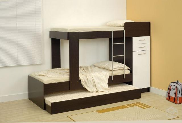 cama beliche com auxiliar armario grande e 5 gavetas  ~ Quarto Planejado Treliche