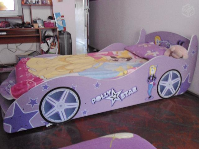 Cama de solteiro lilas carro poly star ofertas - Cama coche infantil ...