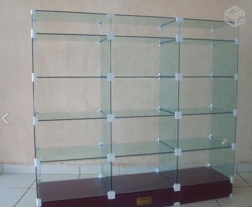 Estante De Vidro Temperado : Par comercio estante balcao em vidro modulado [ ofertas ] vazlon