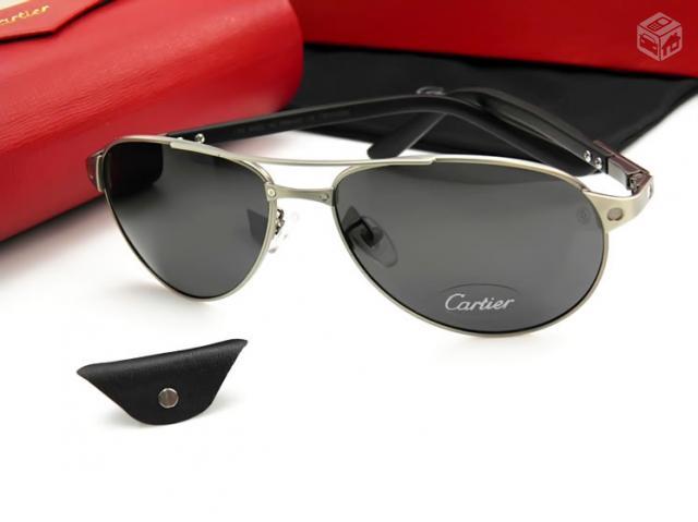 36e3b040872 raro oculos sol cartier white croco leather banho 24kparis   OFERTAS ...