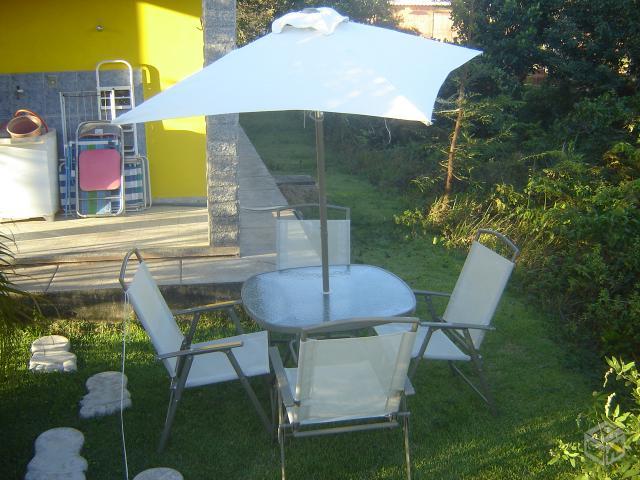 mesa jardim ombrelone:mesa piscina para ombrelone c 3 cadeiras marfiniti r