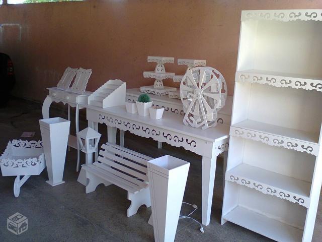 aluguel de kit decoração para festa provençal lindos móveis para