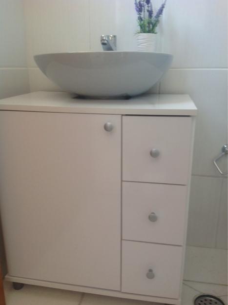 pia com coluna e armario de aluminio  Vazlon Brasil -> Armario Banheiro Vaso Sanitario