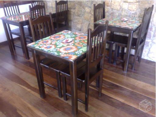 Conjunto de mesa e 4 cadeiras para restaurante vazlon brasil for Mesas para restaurante usadas