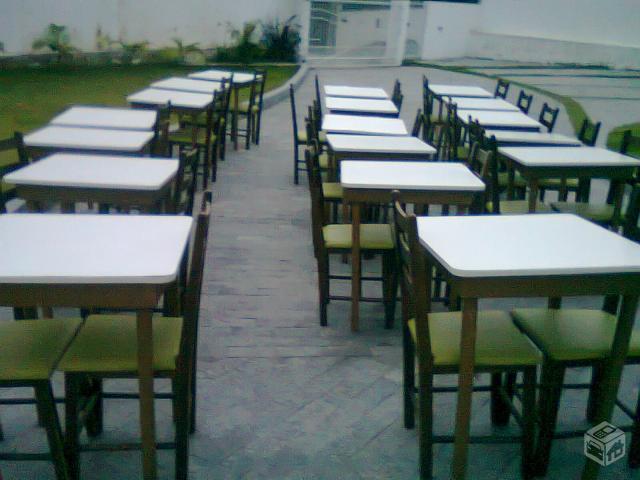 Lote de mesas e cadeiras para restaurante ofertas for Mesas para restaurante usadas