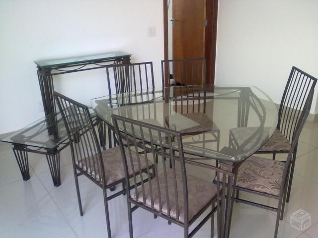 Artesanato Da Região Norte ~ aparador de ferro e uma mesa ctampa de vidro Vazlon Brasil