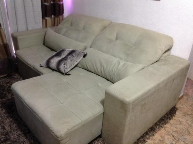 Sofa 2 lugares com chaise retratil vazlon brasil for Sofa 4 lugares retratil