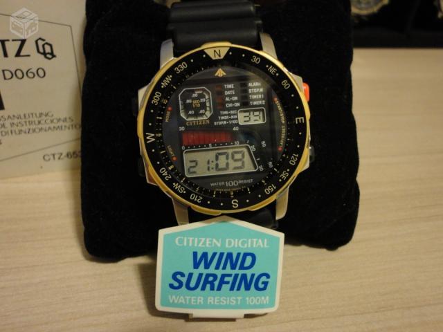 76fe4a9da9e citizen wind surf serie ouro original muito zero   OFERTAS ...