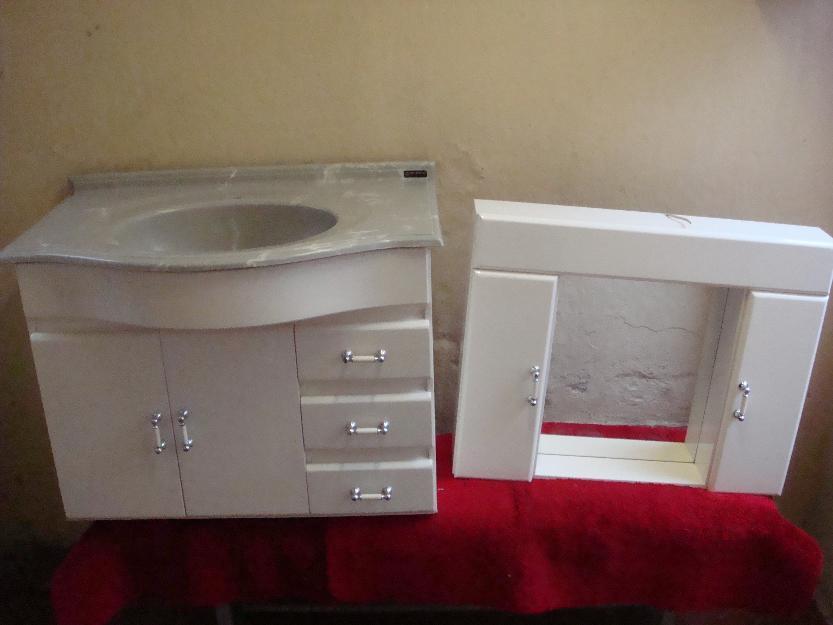 armario p banheiro completo com pia semi novo sem  Vazlon Brasil -> Armario Banheiro Curitiba