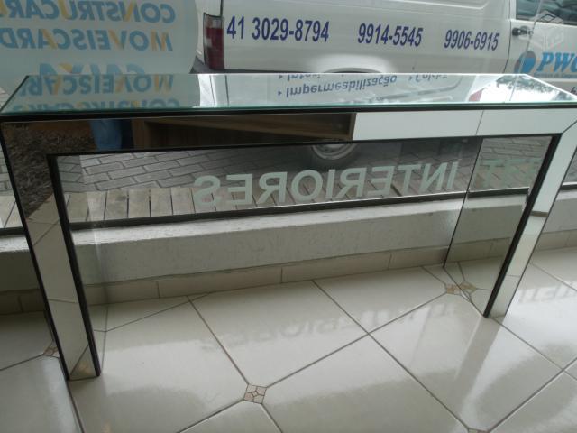 Artesanato De Croche Em Barbante ~ aparador laqueado branco tampo espelhado [ OFERTAS ] Vazlon Brasil